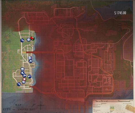 Mafia 2 demo - Mapa